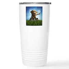 lonely teddy monster Travel Coffee Mug