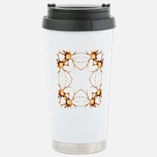 Neurons, kaleidoscope a Stainless Steel Travel Mug