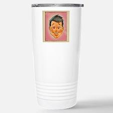 Illustration of a man w Travel Mug
