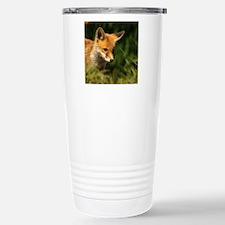 A young Red Fox cub pee Travel Mug