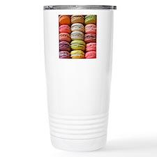 Colorful Macaroons. Travel Coffee Mug
