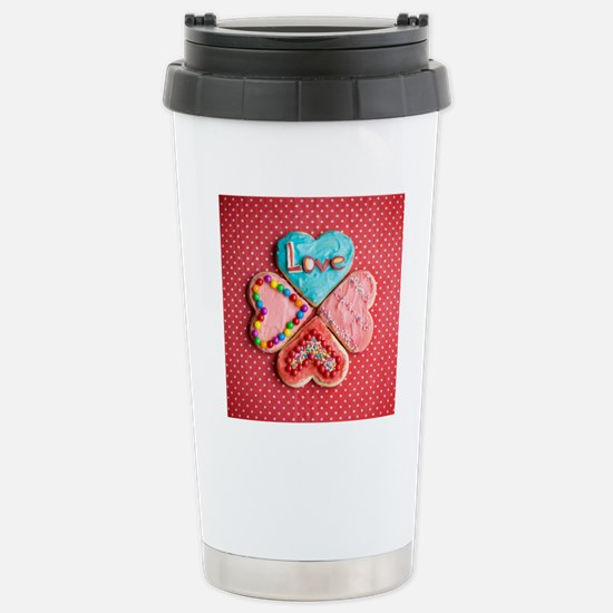 Four brightly decorated Stainless Steel Travel Mug