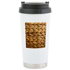 Detail of basket weavin Travel Coffee Mug