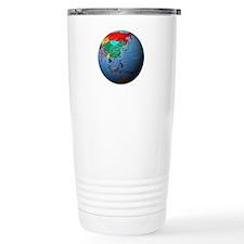 Globe Showing Asia Travel Mug