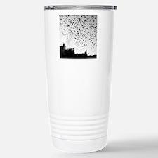Flock of birds flying. Travel Mug