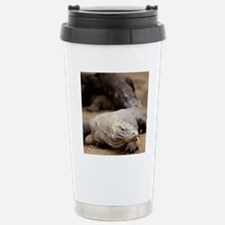 Komodo dragon with tong Stainless Steel Travel Mug