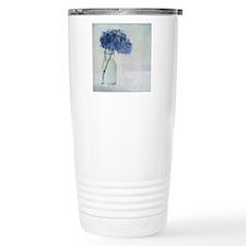 Hydrangea flower in old Travel Mug