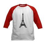 Eiffel Tower Kids Baseball Jersey