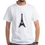Eiffel Tower White T-Shirt