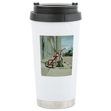 Lovely red tricycle Travel Coffee Mug