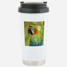 Green macaw parrot on g Travel Mug
