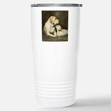 Labrador dog with her p Travel Mug