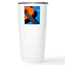 Guitar and its plectrum Travel Mug