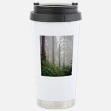 Misty woods in forest. Stainless Steel Travel Mug