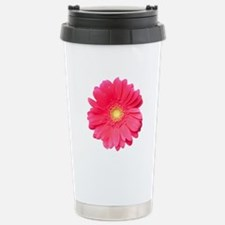 Pink gerbera daisy isol Stainless Steel Travel Mug