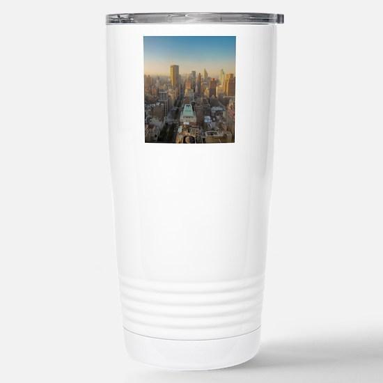 New York City, Manhatta Stainless Steel Travel Mug