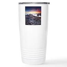 Sunset on a rocky Calif Travel Coffee Mug