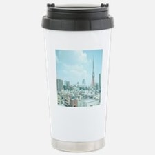 Tokyo Tower and skyline Stainless Steel Travel Mug