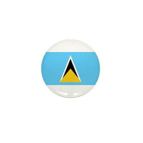 Saint Lucia Flag Mini Button (10 pack)