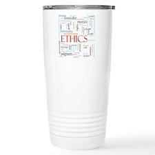 Ethics word concept ill Thermos Mug