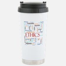 Ethics word concept ill Travel Mug