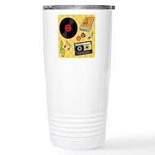Retro Music Collection Travel Mug