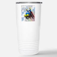 Wheelchair Superhero in Stainless Steel Travel Mug