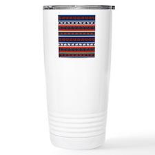 Seamless Mexican lizard Travel Mug