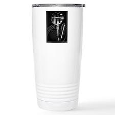 Harmonica and Vintage M Travel Mug