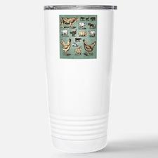 farm animals vintage se Stainless Steel Travel Mug