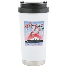 Japanese Landscape With Travel Mug