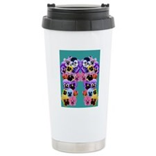 pansy flip flops Travel Mug