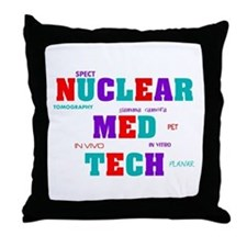 Cute Nuclear medicine Throw Pillow