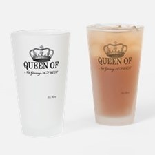 QUEEN OF NOT GIVING A FUCK Drinking Glass