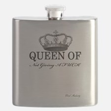 QUEEN OF NOT GIVING A FUCK Flask