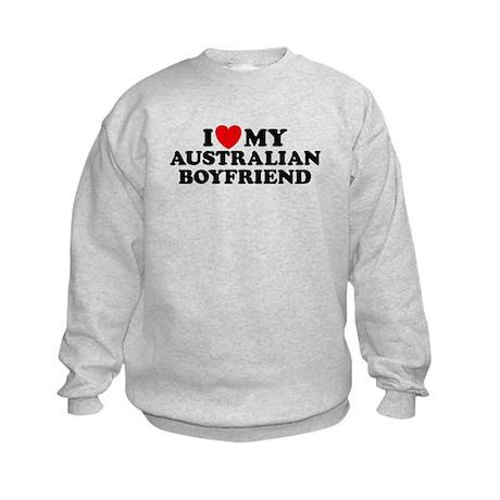 I Love My Australian Boyfriend Kids Sweatshirt