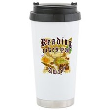 Reading Away Travel Mug