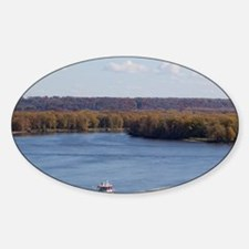 IA, Dubuque, Towboat and barges, on Decal