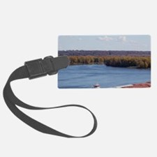 IA, Dubuque, Towboat and barges, Luggage Tag