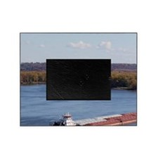 IA, Dubuque, Towboat and barges, on  Picture Frame