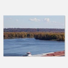 IA, Dubuque, Towboat and  Postcards (Package of 8)