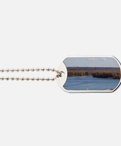 IA, Dubuque, Towboat and barges, on the M Dog Tags