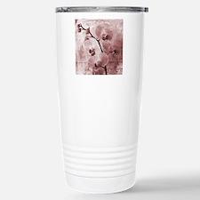 Pink Orchids Grunge Travel Mug