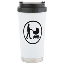 father with a baby in a Travel Mug