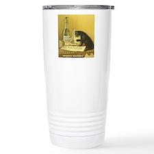 Vintage Absinthe Black  Travel Mug