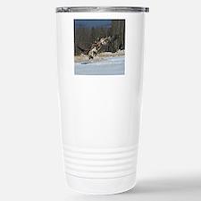Fighting eagles Travel Mug