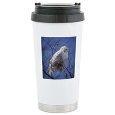 Snowy White Owl Travel Coffee Mug