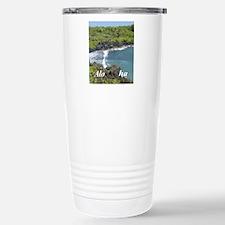 Black Sands Beach Stainless Steel Travel Mug