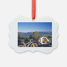 Mountain bikers campsite at Galen Ornament