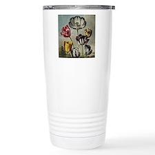 Botanical Tulips Travel Coffee Mug